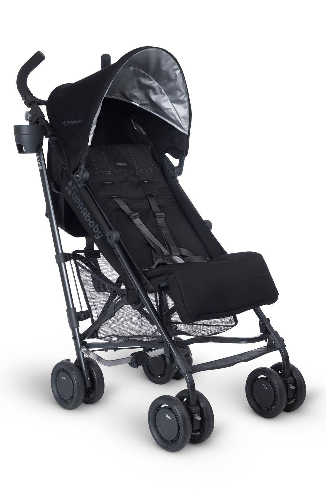 G-LUXE - Black Frame Reclining Umbrella Stroller,                         Main,                         color, Jake Black/ Carbon