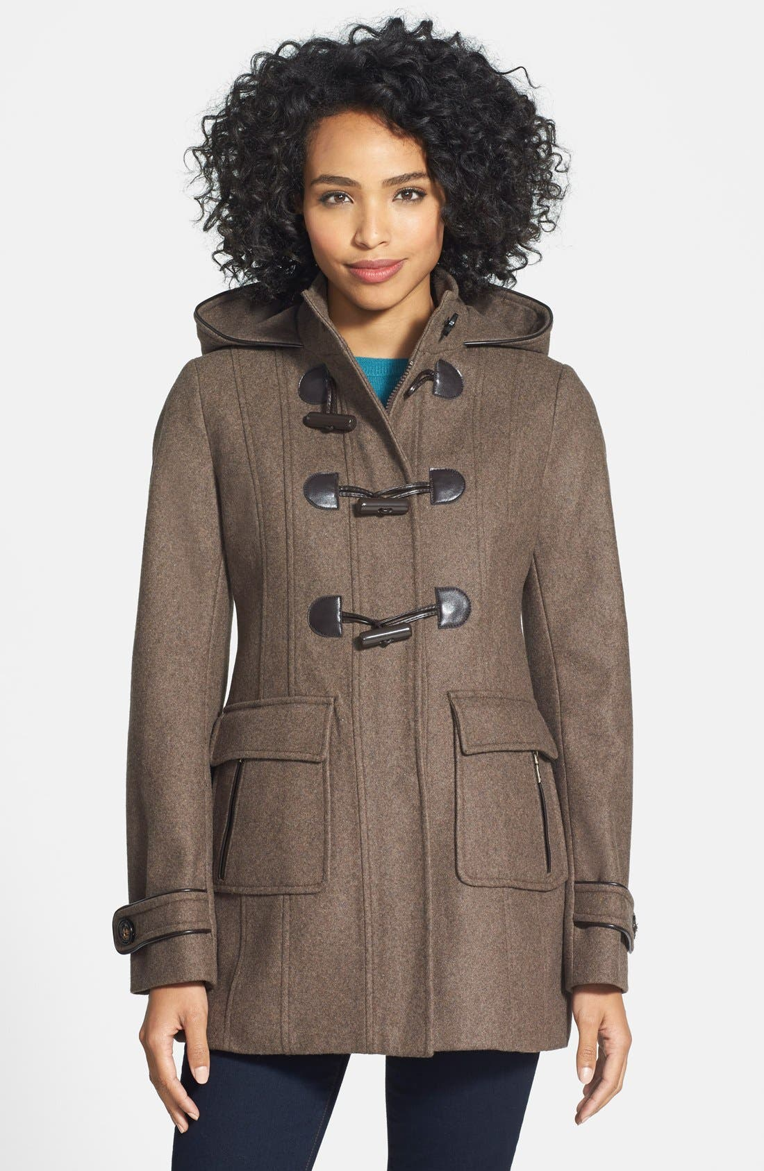 Alternate Image 1 Selected - Laundry by Design Wool Blend Duffle Coat