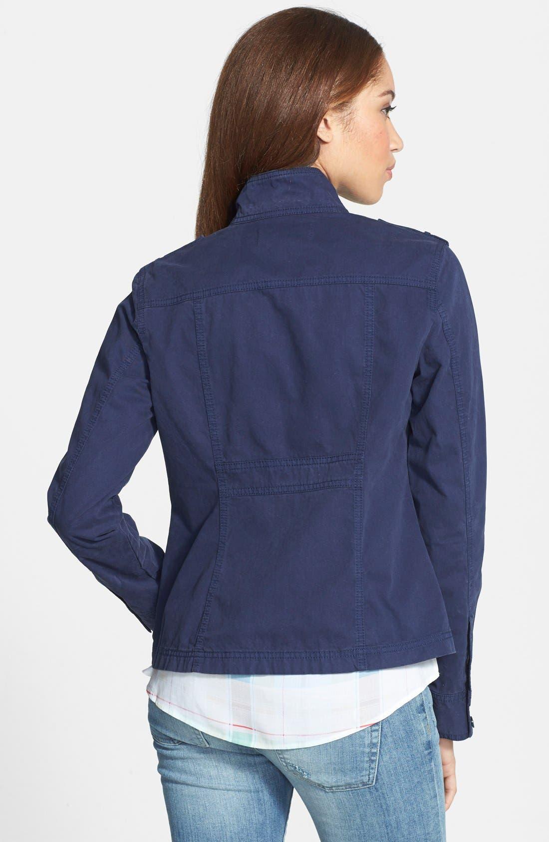 Alternate Image 2  - Caslon® Front Zip Field Jacket (Regular & Petite)