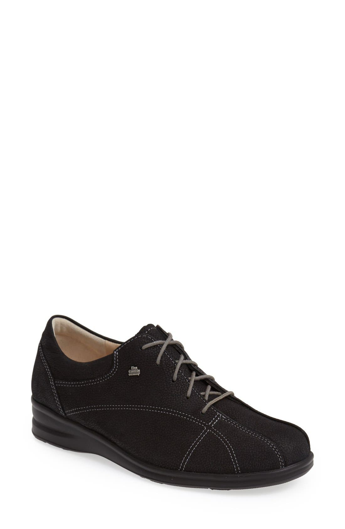 'Ariano' Leather Sneaker,                             Main thumbnail 1, color,                             Black