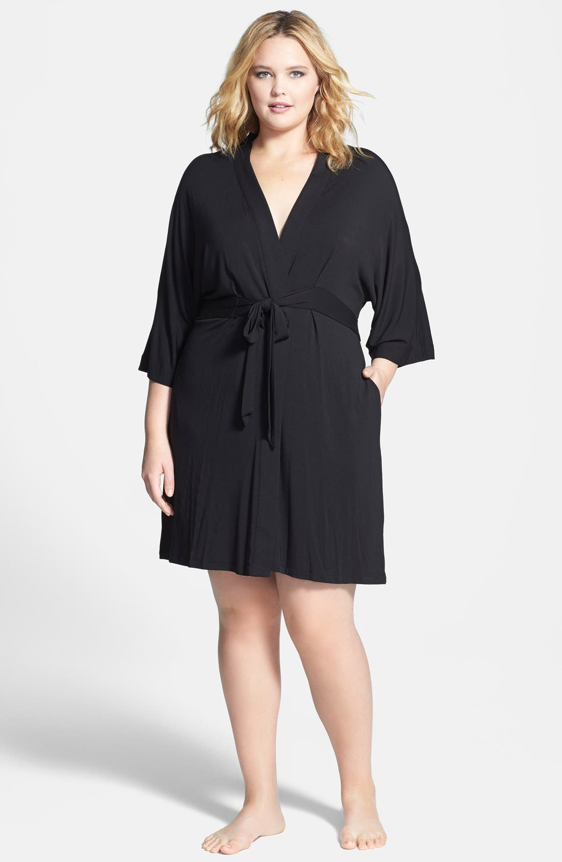 DKNY 'Urban Essentials' Robe (Plus Size)