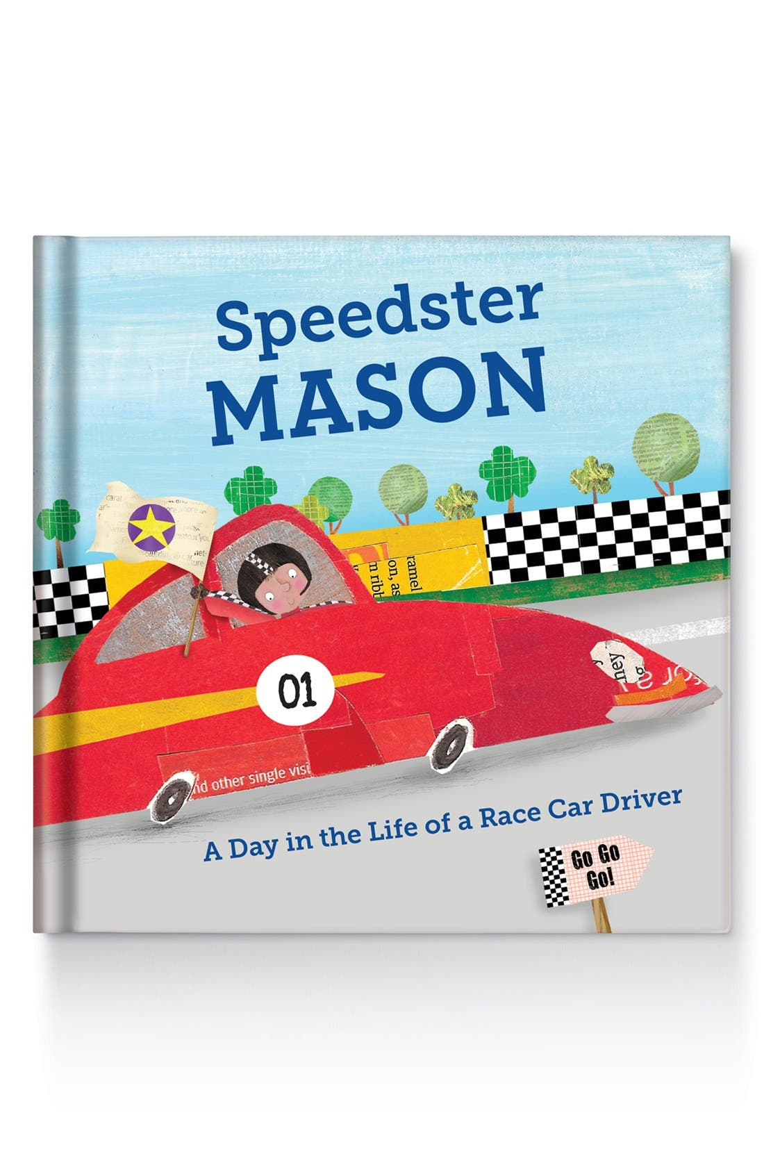 'Speedster' Personalized Book,                         Main,                         color, Brown