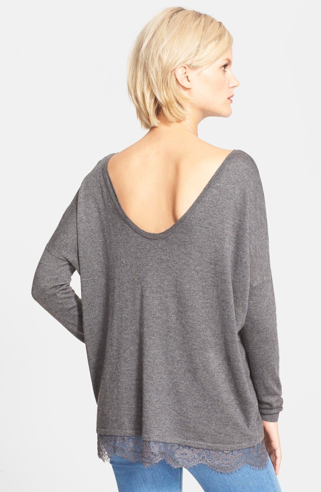 Alternate Image 2  - Joie 'Yael' Lace Hem Sweater