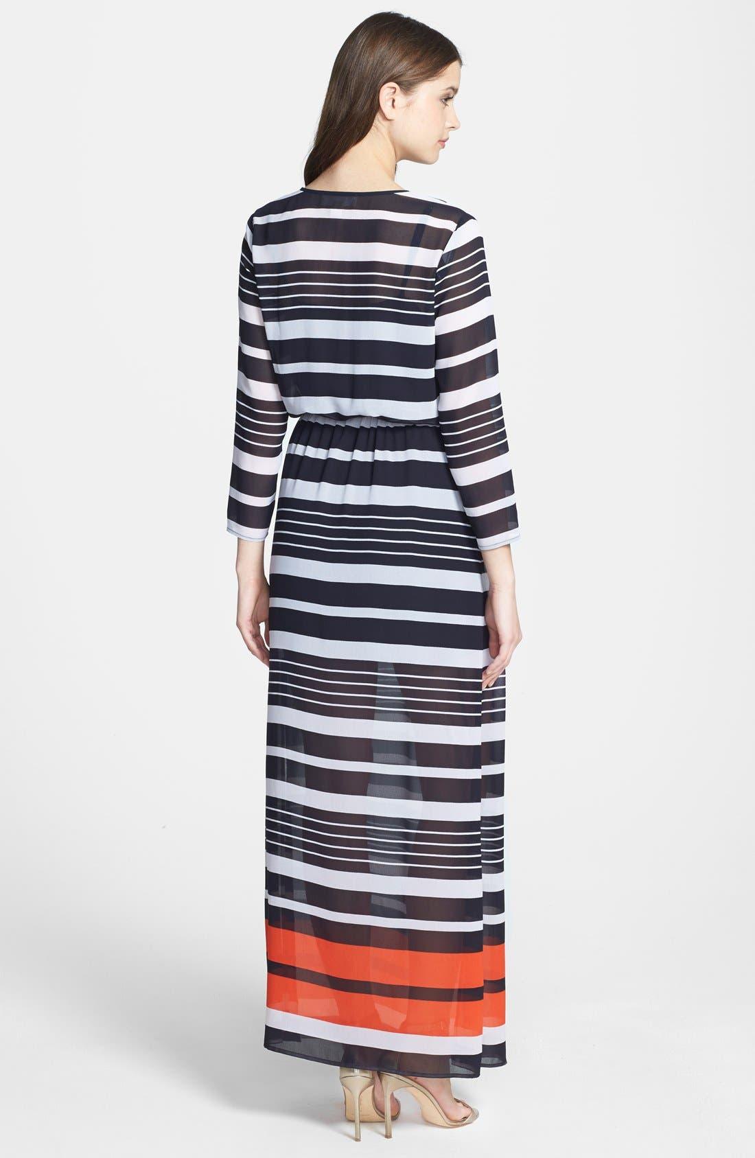 Alternate Image 2  - MICHAEL Michael Kors 'Helsinki Stripe' Georgette Maxi Dress