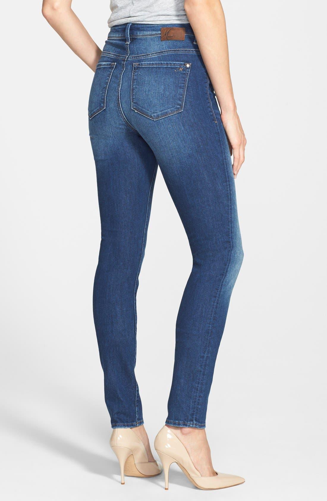 Alternate Image 2  - Mavi Jeans 'Alissa' Skinny Jeans (Medium Blue)