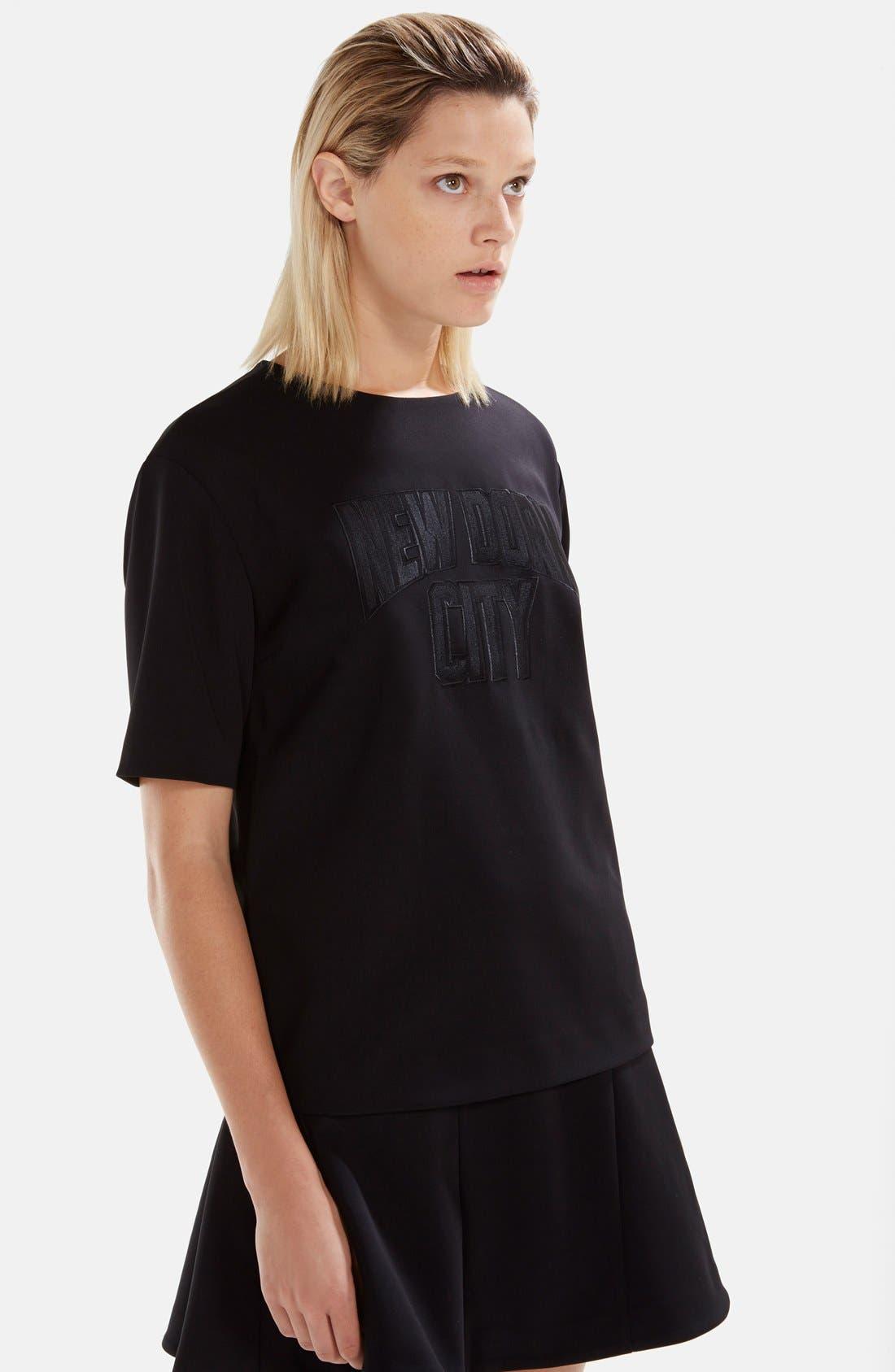 Alternate Image 2  - izzue Bonded T-Shirt Dress (Women)