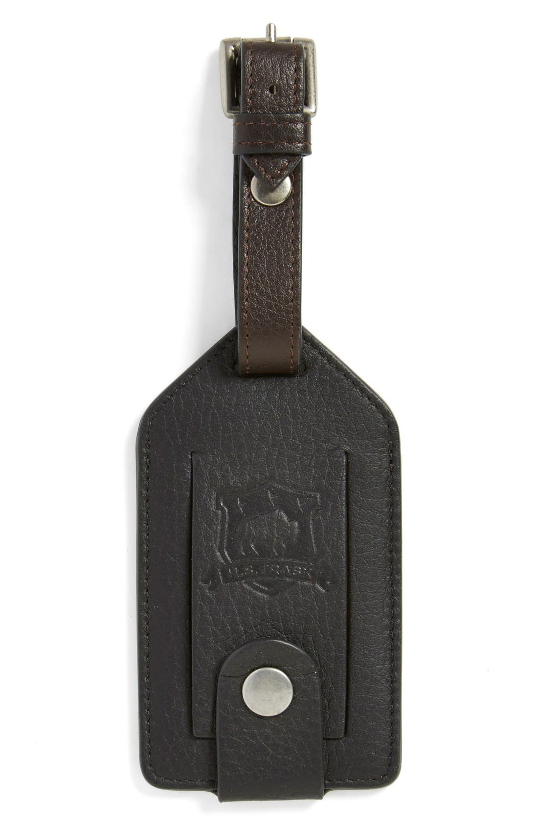 TRASK Jackson Norwegian Elk Leather Luggage Tag