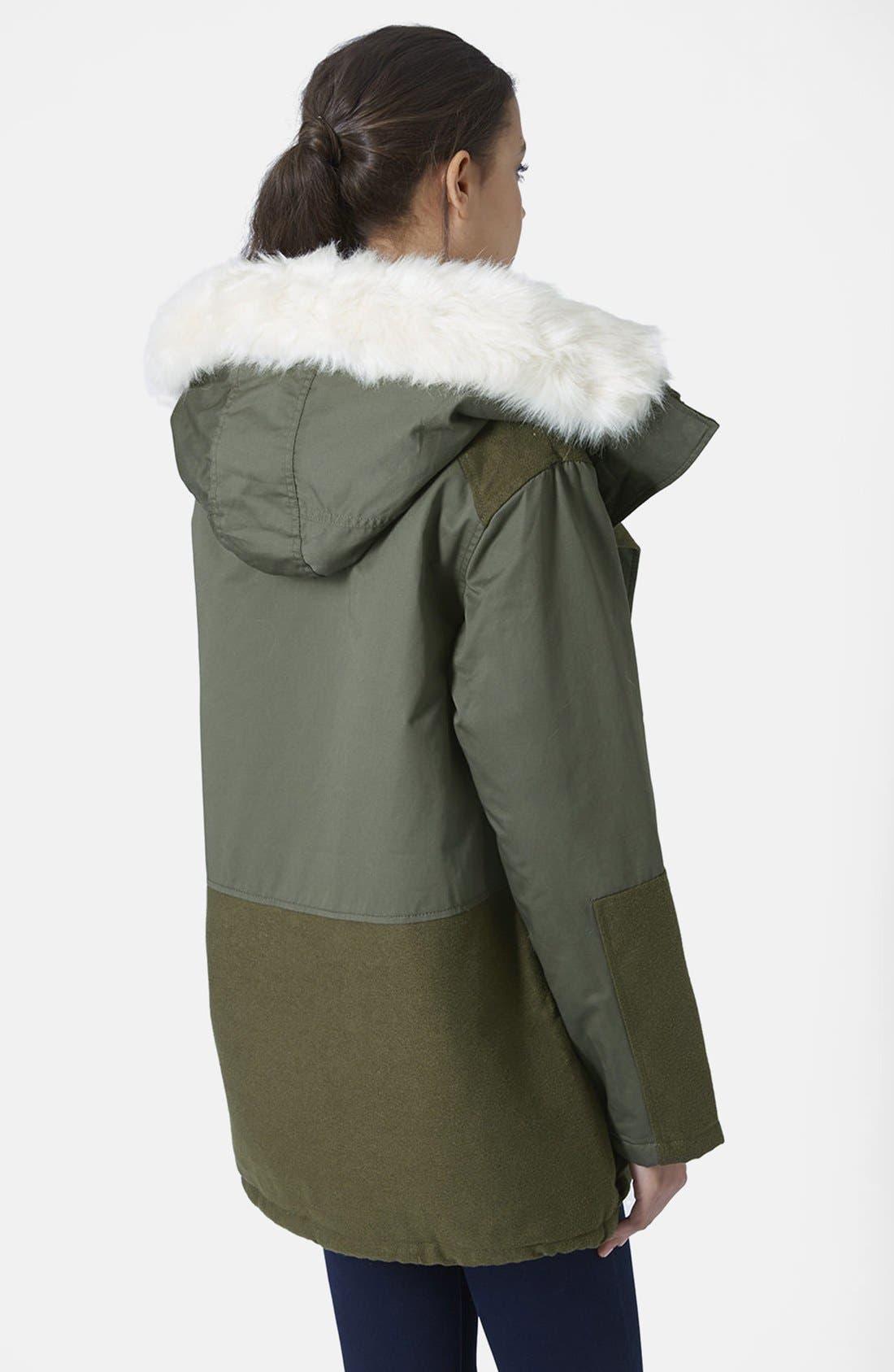 Alternate Image 2  - Topshop 'Toddy' Faux Fur Parka