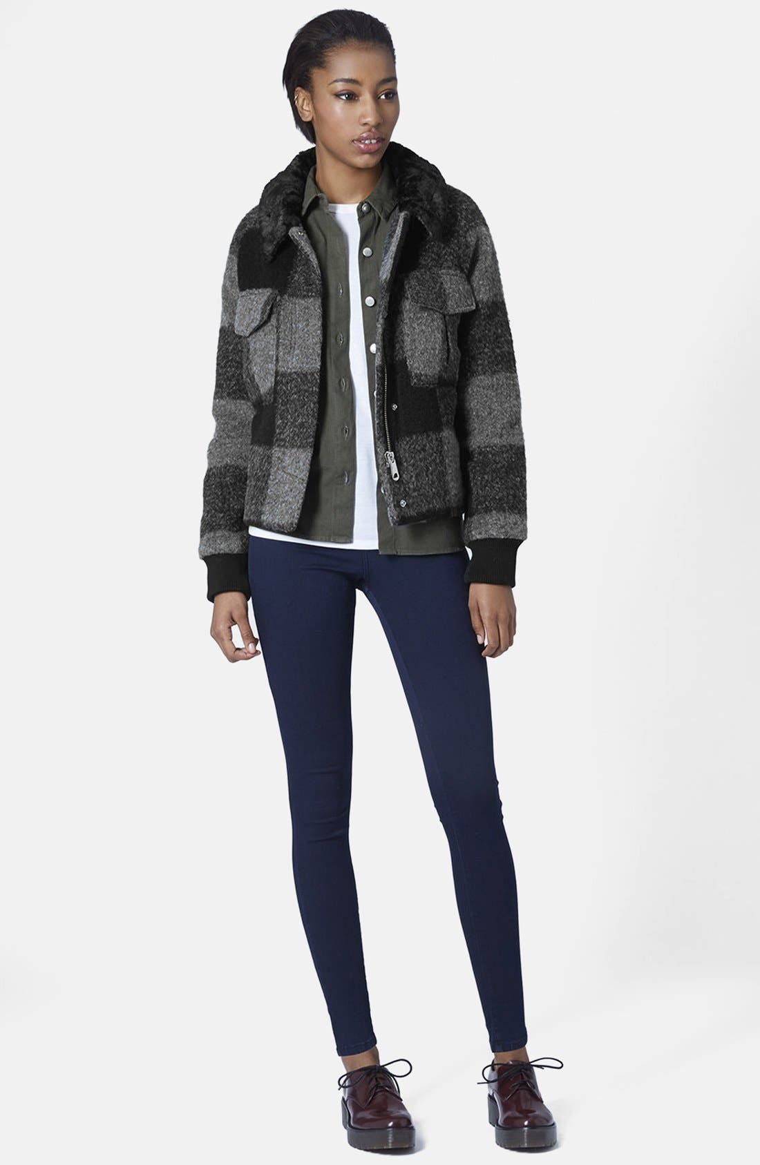 Alternate Image 5  - Topshop 'Harrington' Faux Fur Jacket