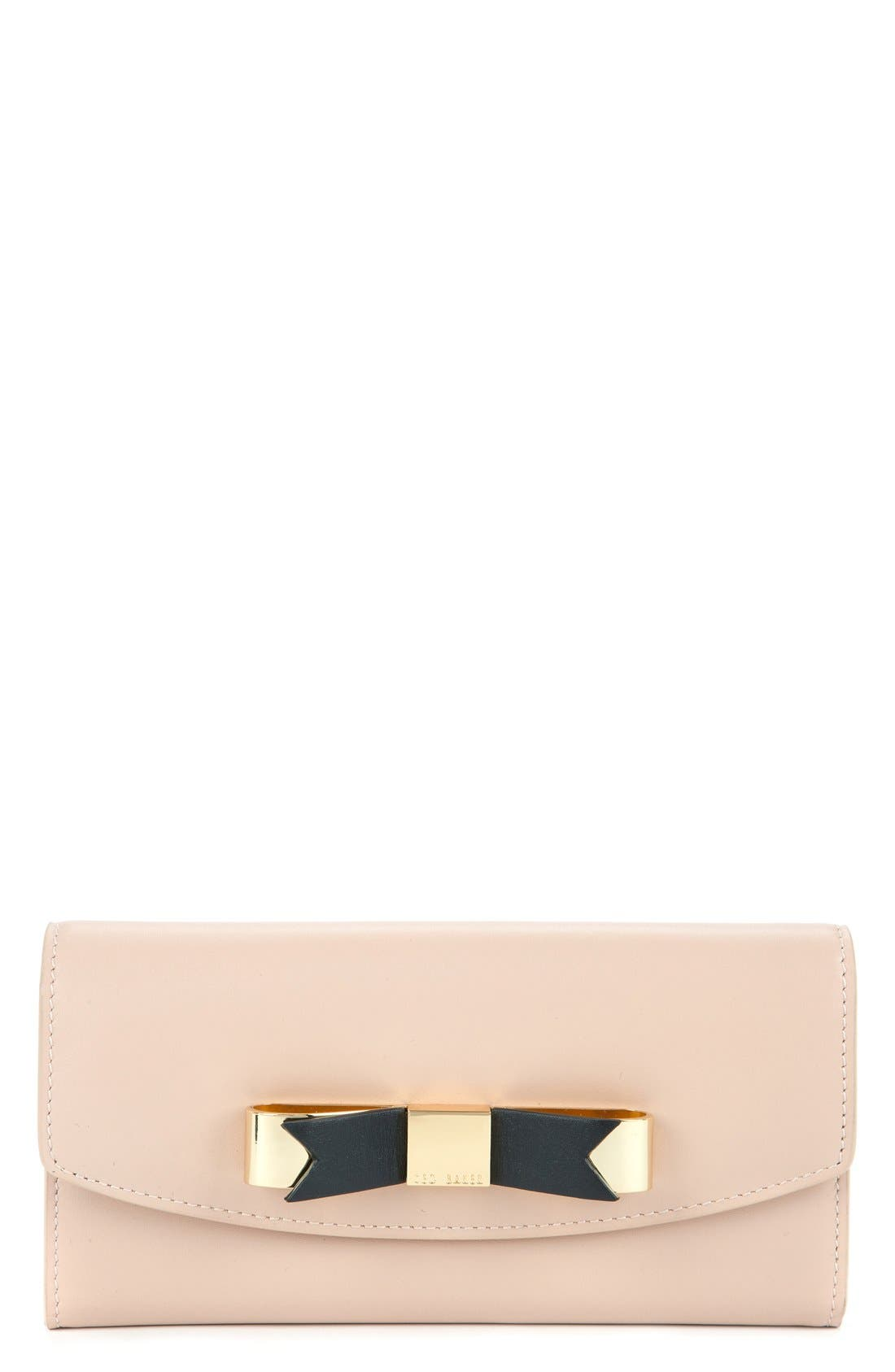 Alternate Image 1 Selected - Ted Baker London Leather Bow Wallet
