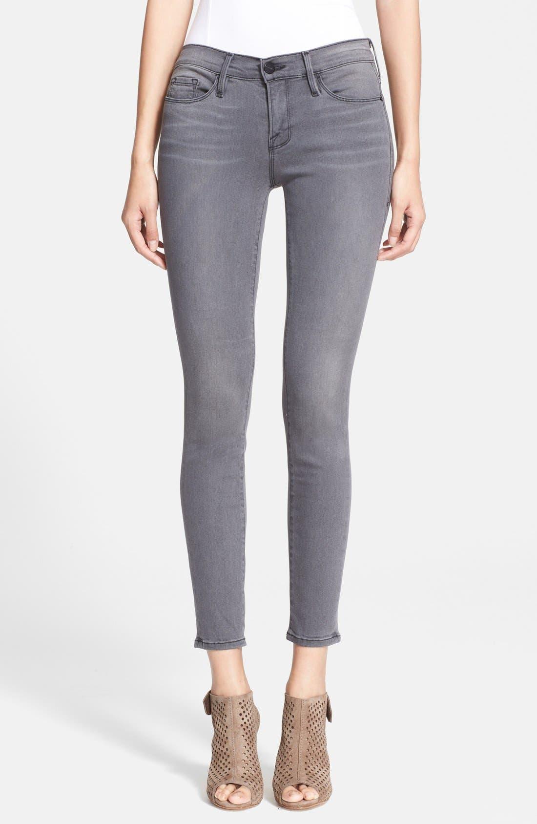 'Le Skinny' Sateen Skinny Jeans,                             Main thumbnail 1, color,                             Greys Inn