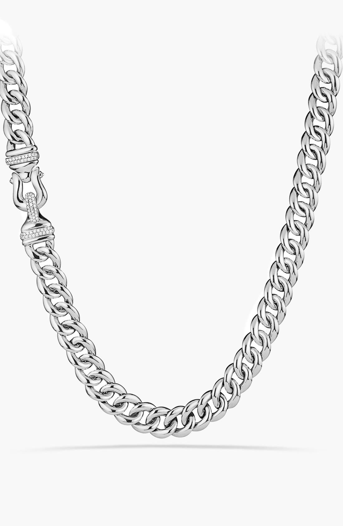 DAVID YURMAN Buckle Chain Necklace with Diamonds