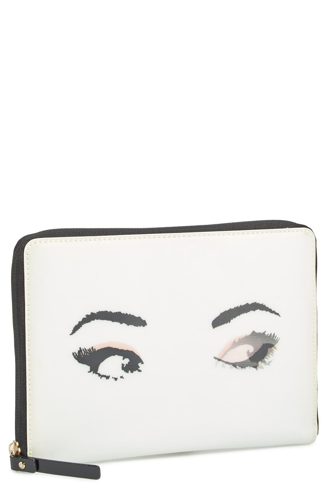 Alternate Image 1 Selected - kate spade new york 'lenticular eyes' iPad mini sleeve