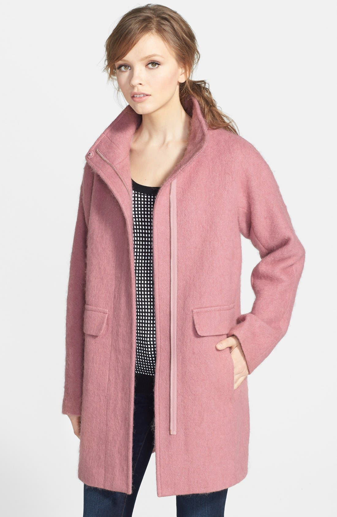 Main Image - Vince Camuto Kimono Sleeve Wool Blend Coat (Nordstrom Exclusive)