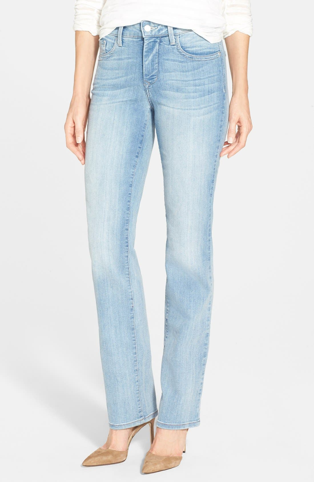 Alternate Image 1 Selected - NYDJ 'Marilyn' Stretch Straight Leg Jeans (Manhattan Beach)