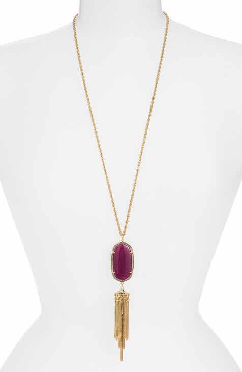 Womens pendant necklaces nordstrom kendra scott rayne stone tassel pendant necklace aloadofball Images