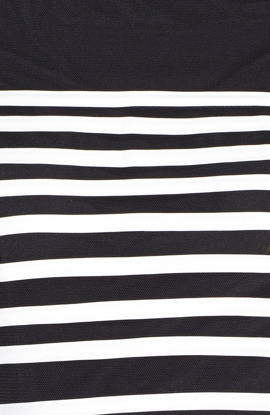 Alternate Image 4  - Betsy & Adam Stripe Mesh Fit & Flare Dress