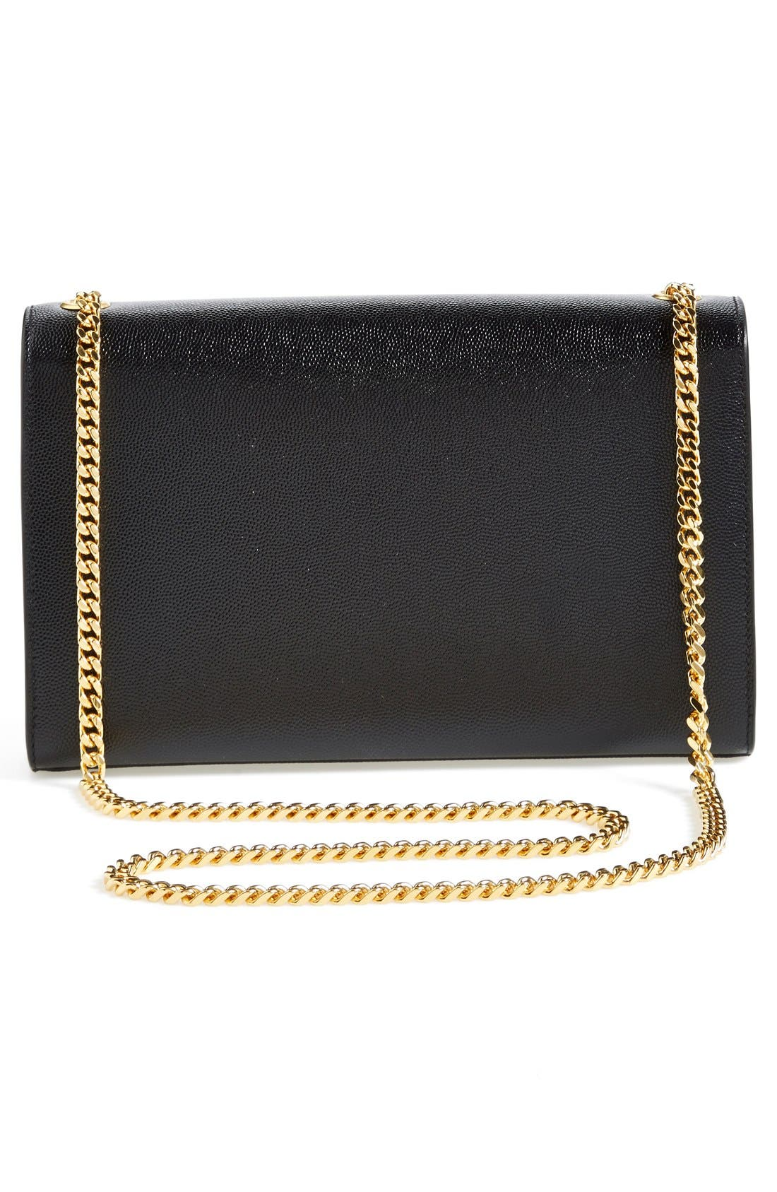 'Medium Kate' Leather Chain Shoulder Bag,                             Alternate thumbnail 3, color,                             Noir