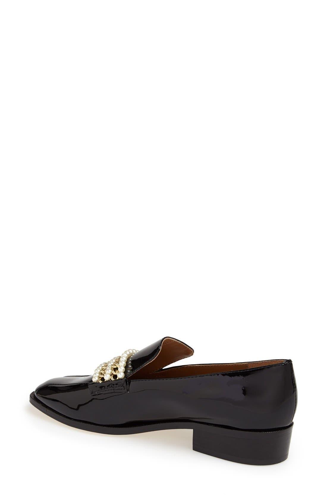 Alternate Image 2  - Bettye Muller 'Pearl' Patent Leather Loafer (Women)