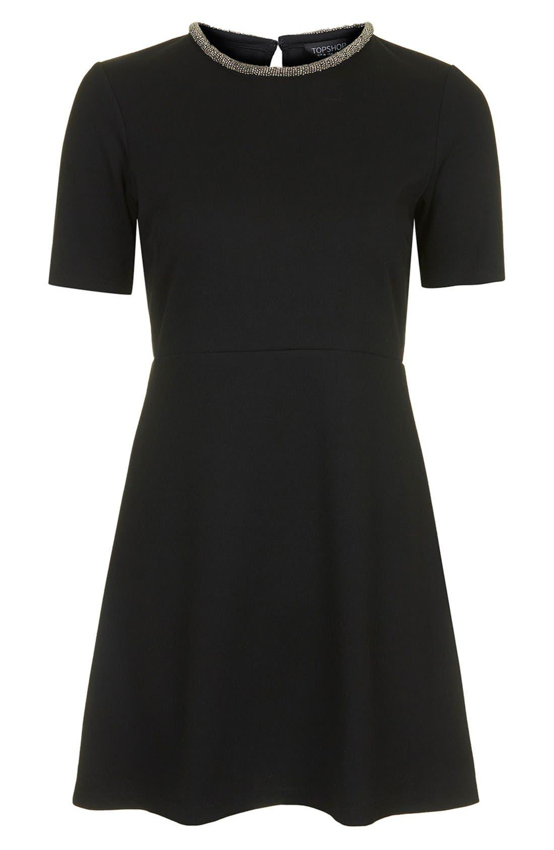 Alternate Image 5  - Topshop Embellished Skater Dress