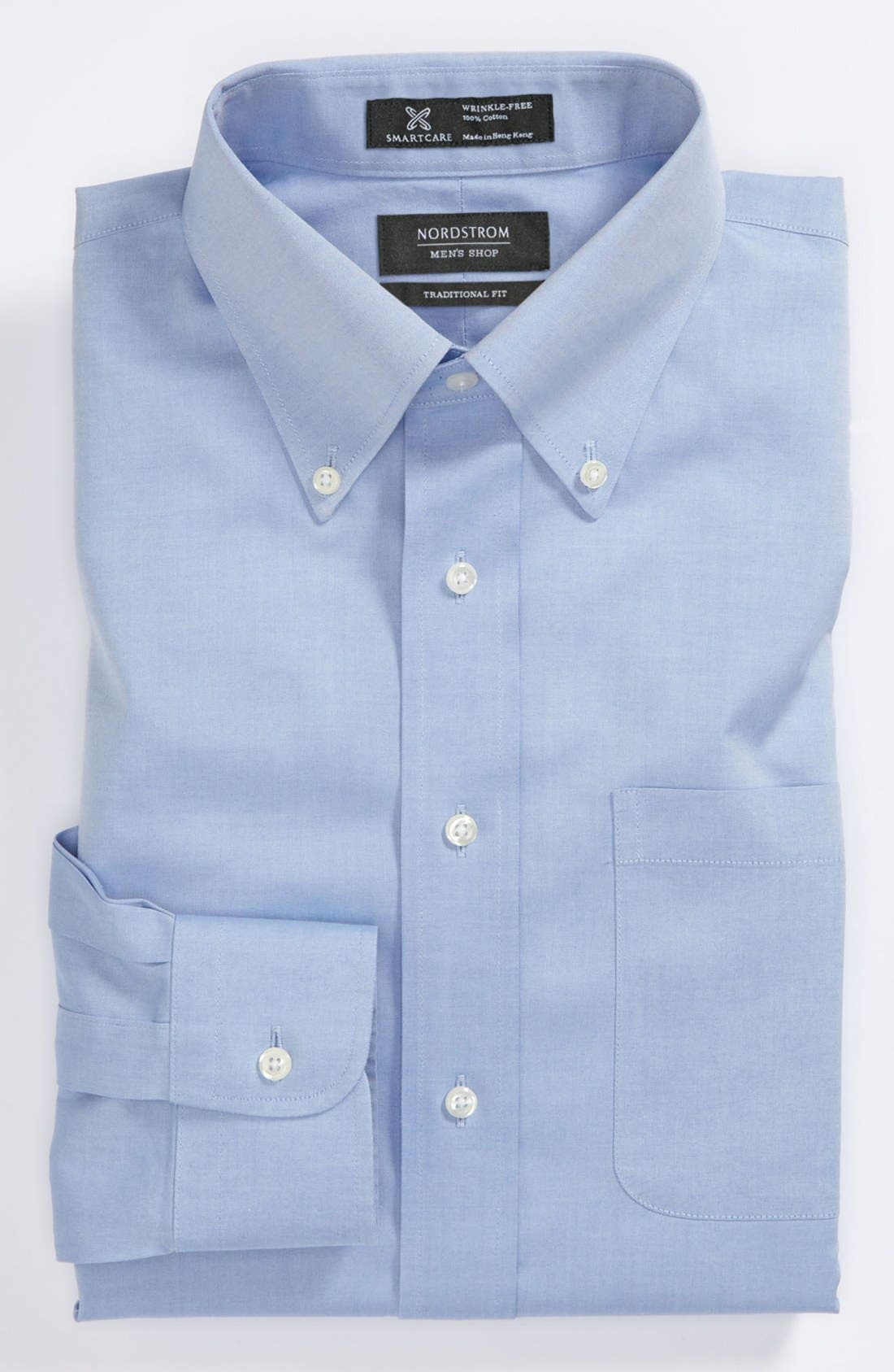 NORDSTROM MENS SHOP Smartcare<sup>™</sup> Traditional Fit Pinpoint Dress Shirt