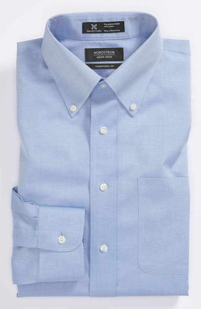 Nordstrom Men 39 S Shop Smartcare Traditional Fit Pinpoint