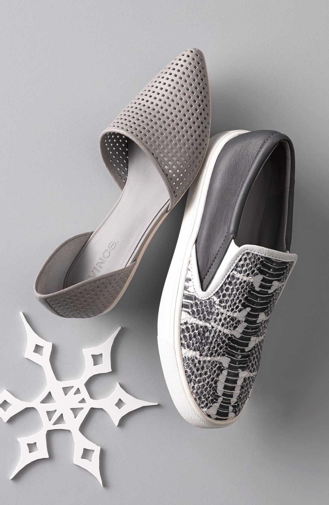 Alternate Image 5  - Vince 'Nina 2' Perforated Leather D'Orsay Flat (Women)