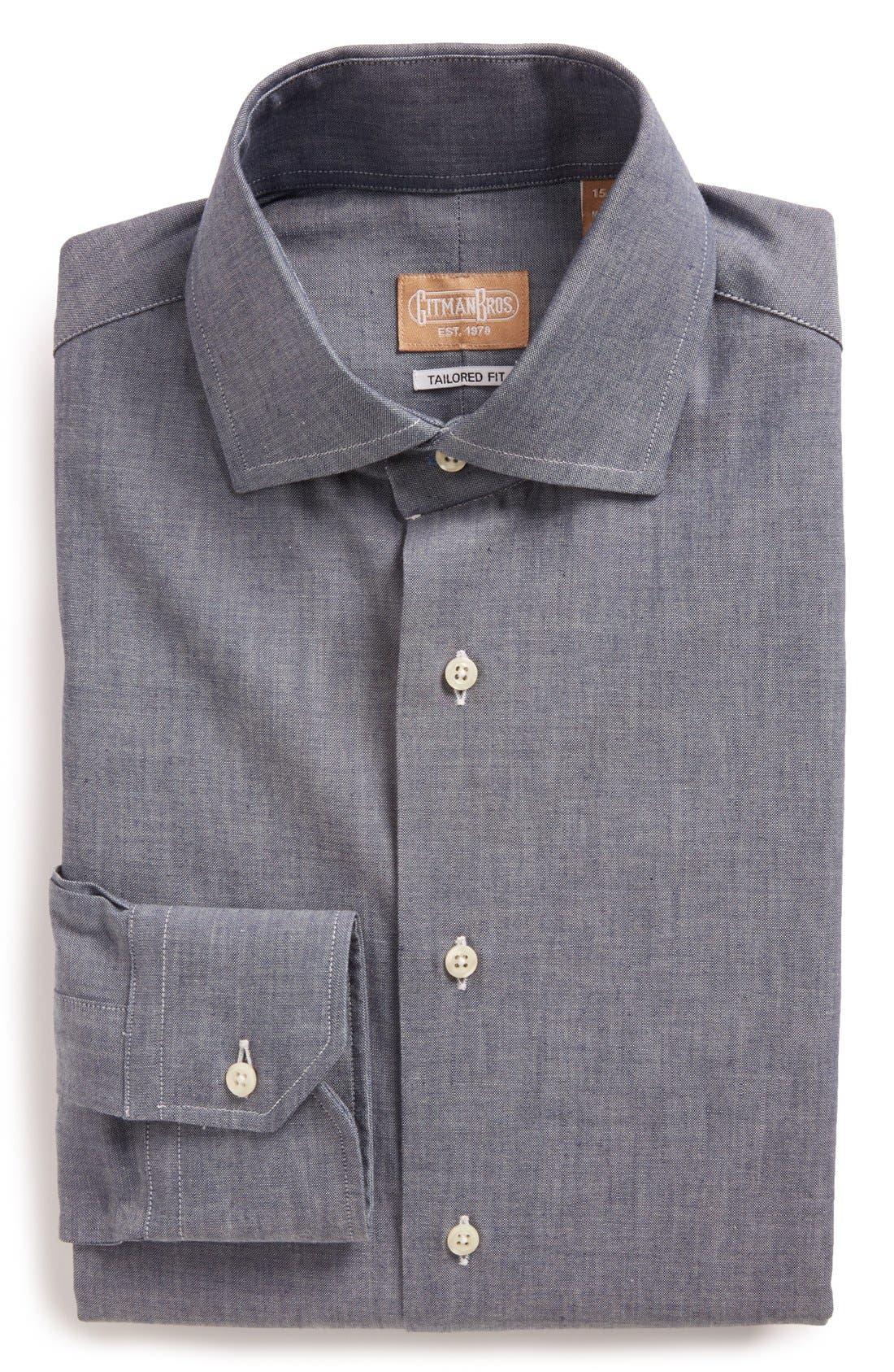 Main Image - Gitman Tailored Fit Chambray Dress Shirt