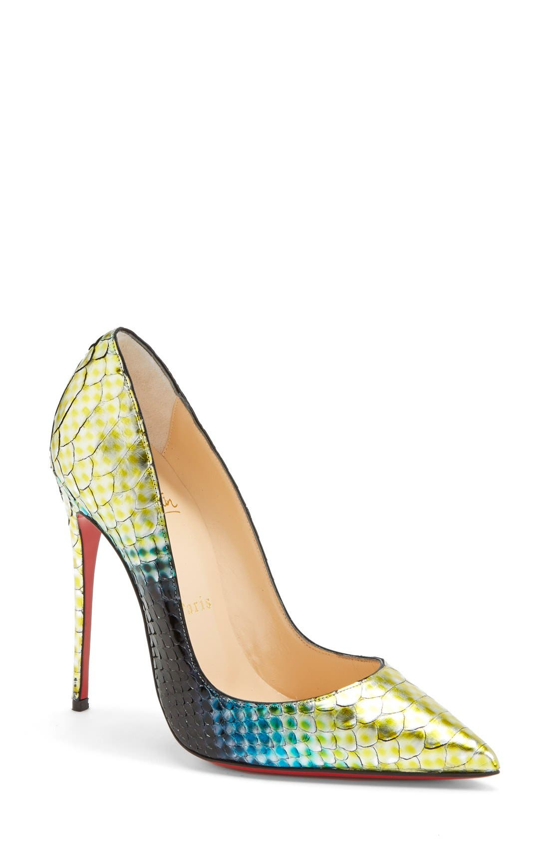 Main Image - Christian Louboutin 'So Kate' Painted Genuine Python Pointy Toe Pump