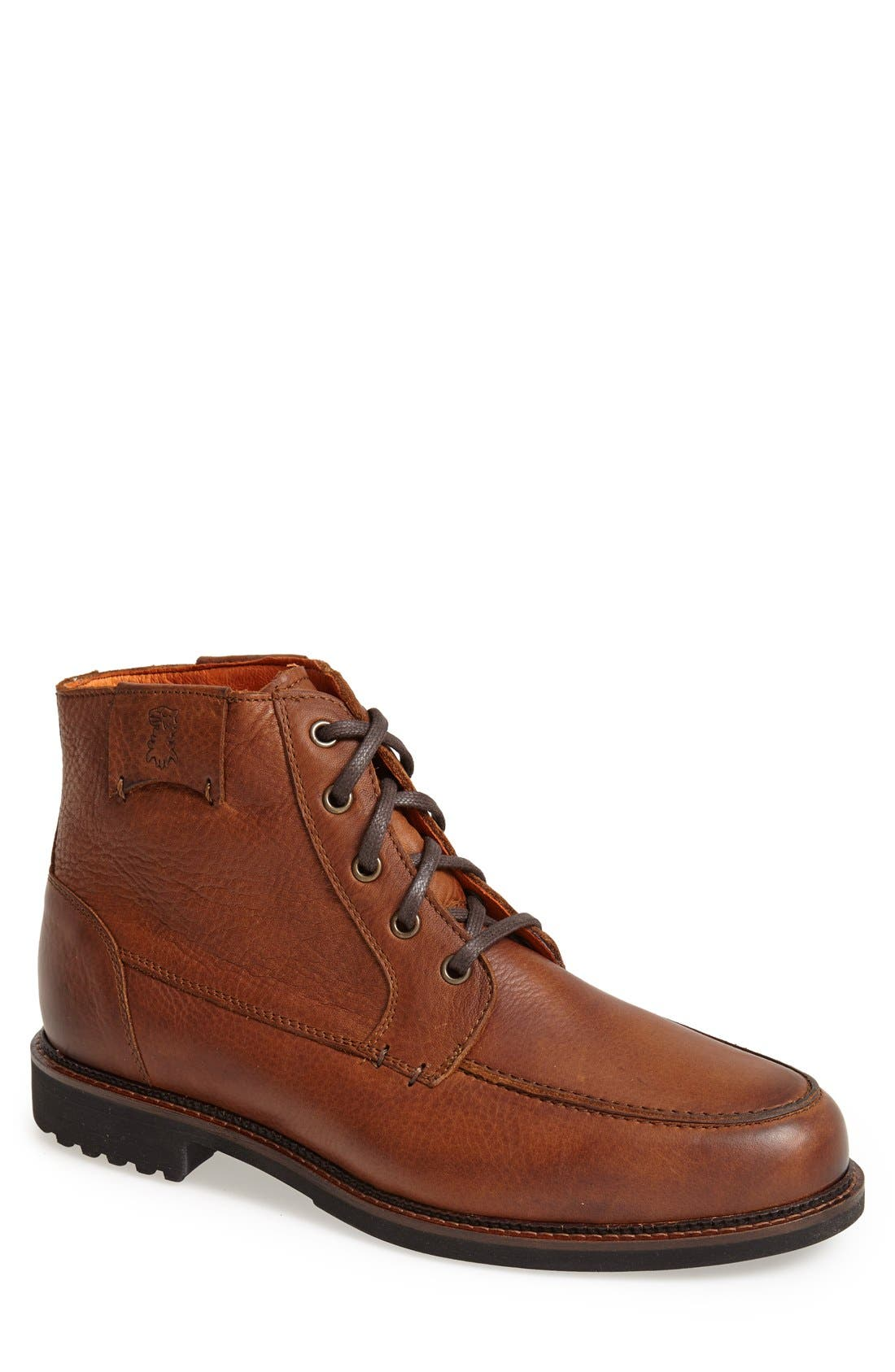 'Alpine' Moc Toe Boot,                             Main thumbnail 1, color,                             Worn Saddle