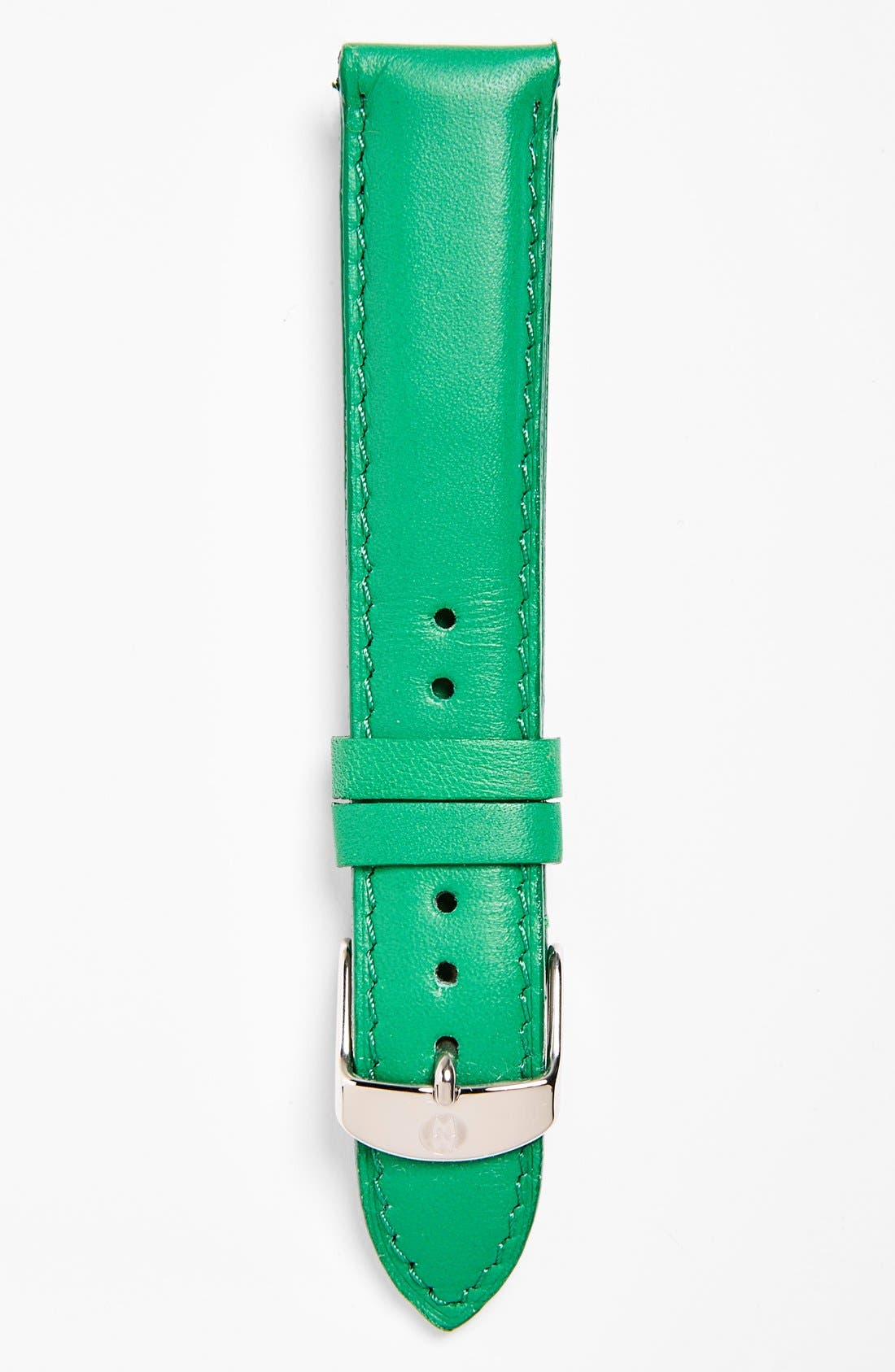 Alternate Image 1 Selected - MICHELE 18mm Leather Watch Strap (Limited Edition)
