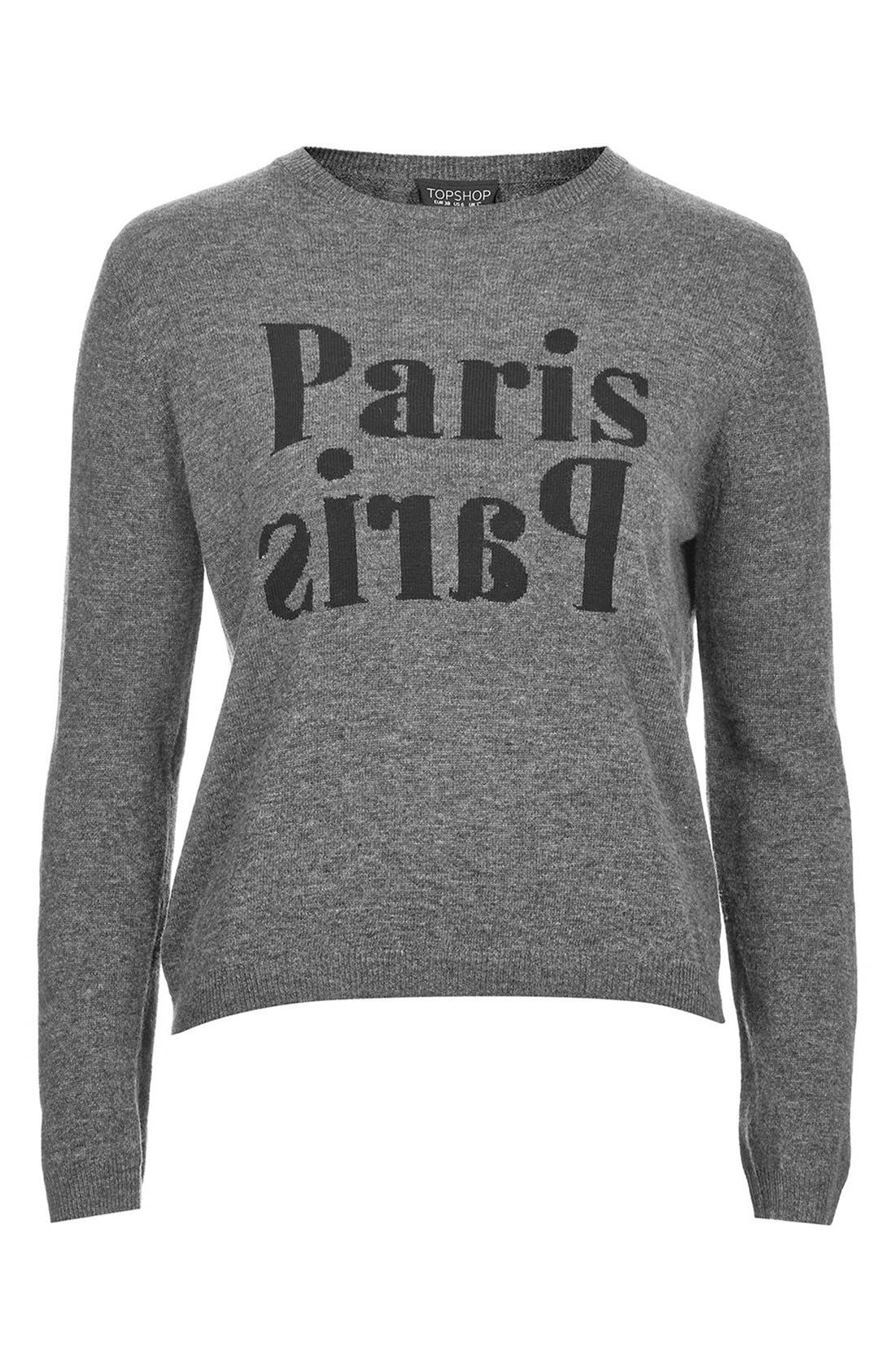 Alternate Image 3  - Topshop 'Paris, Paris' Crewneck Sweater