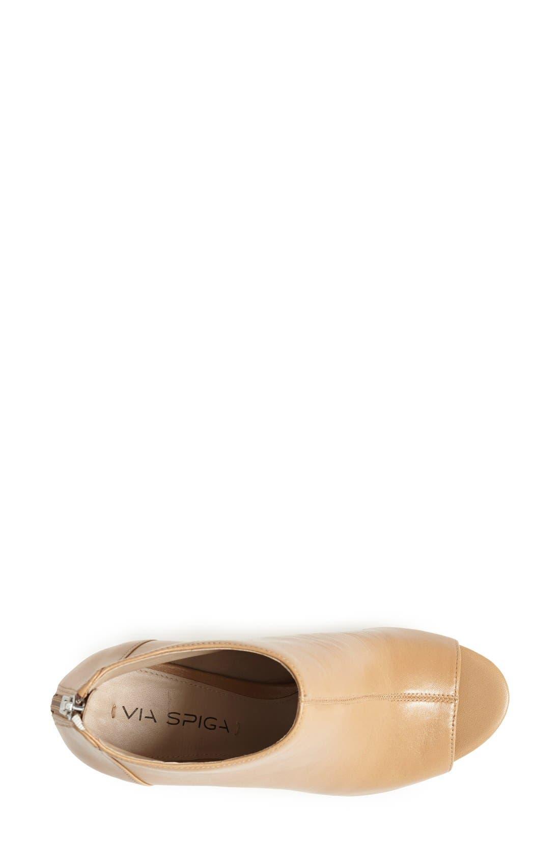Alternate Image 3  - Via Spiga 'Nessa 2' Leather Open Toe Bootie (Women)