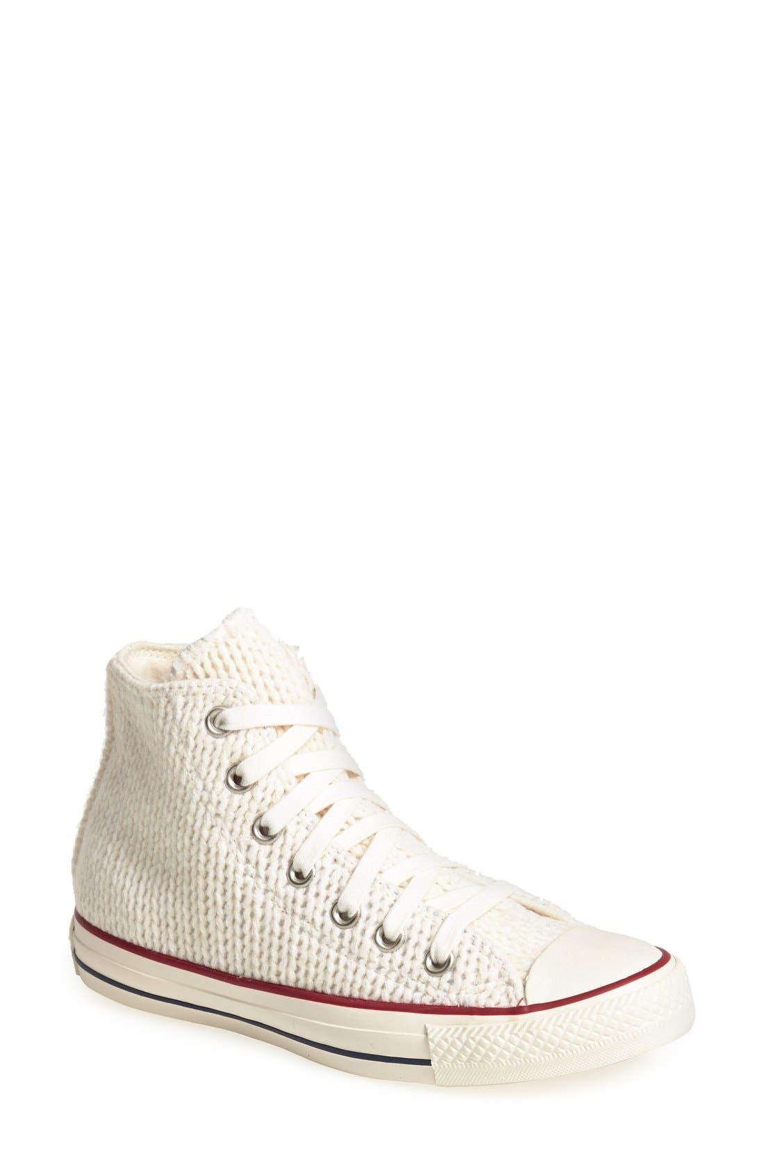 Main Image - Converse Chuck Taylor® All Star® 'Winter Knit' High Top Sneaker (Women)