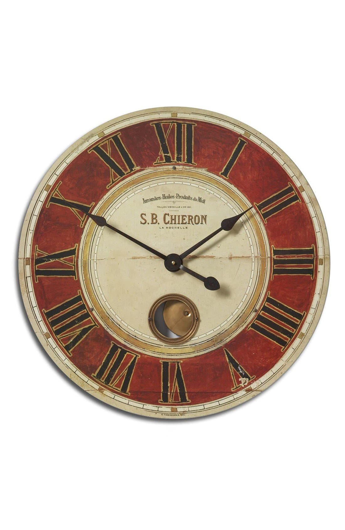 'Chieron' Wall Clock,                         Main,                         color, Red