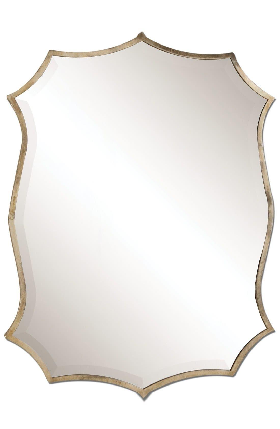 'Migiana' Oxidized Nickel Wall Mirror,                         Main,                         color, Silver