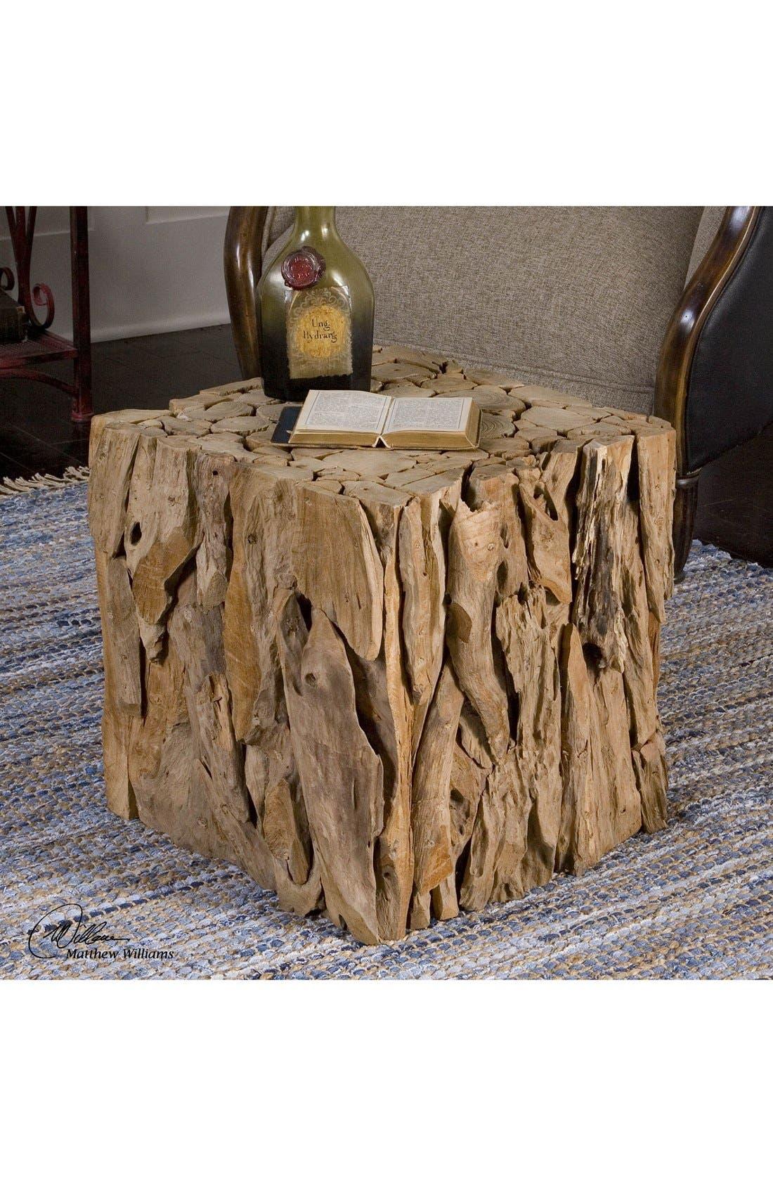 Teak Wood Cube,                         Main,                         color, Brown