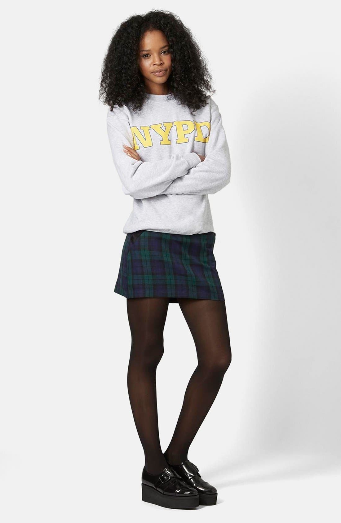Alternate Image 5  - Topshop Plaid Miniskirt