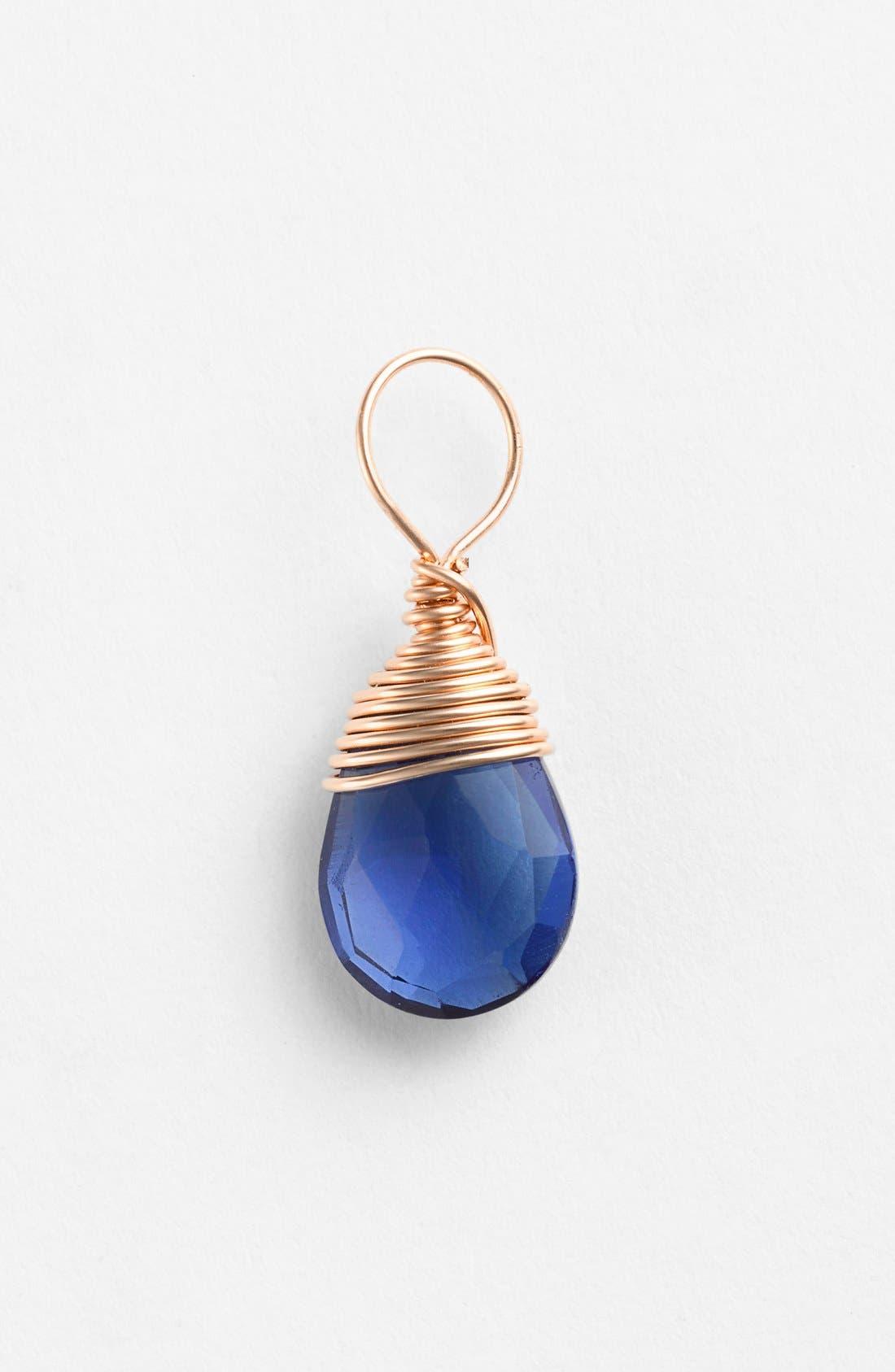Alternate Image 1 Selected - Nashelle 14k-Rose Gold Fill & Semiprecious Stone Charm