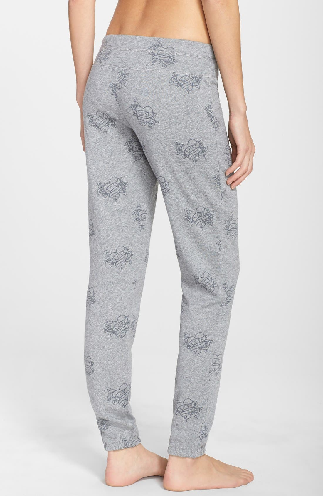 Alternate Image 2  - PJ Salvage 'Love More' Tattoo Print Sweatpants