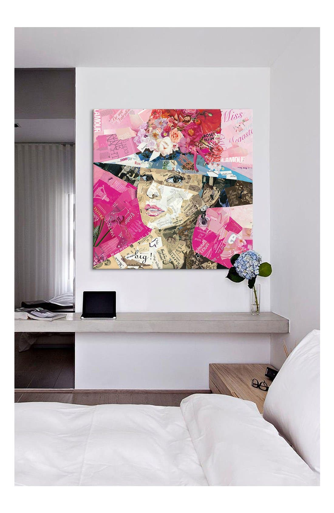 'Girl Next Door - Ines Kouidis' Giclée Print Canvas Art,                             Alternate thumbnail 2, color,                             Pink/ Multi