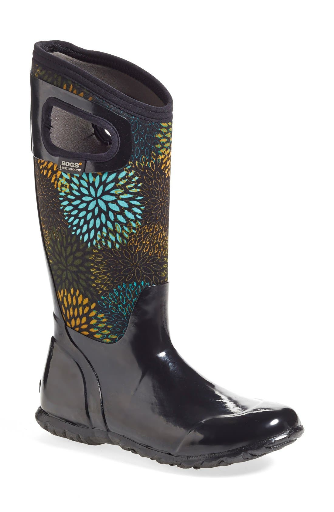 Black Multi Bogs Womens Boots North Hampton Floral