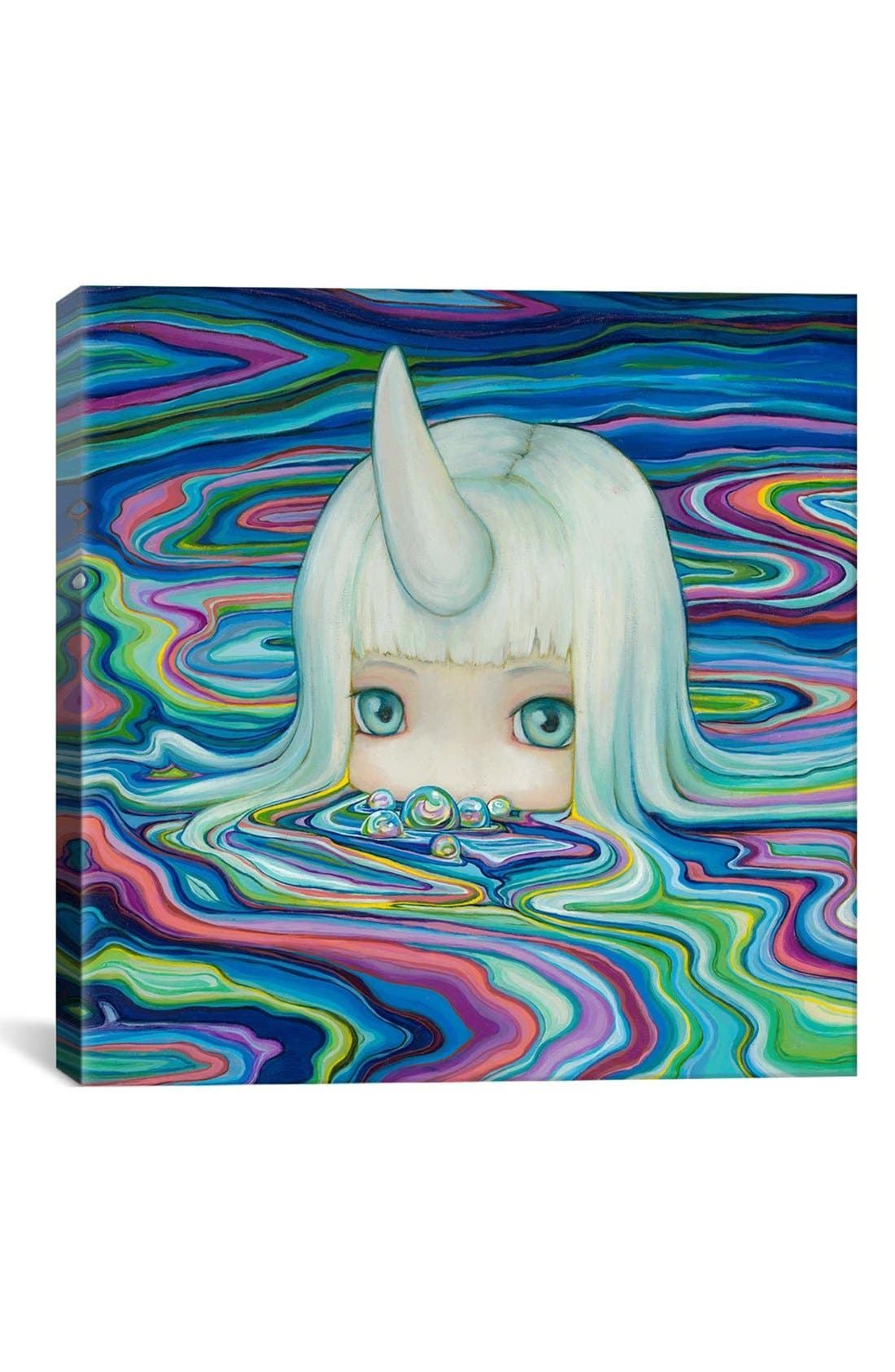 'Bubs - Camilla Derrico' Giclée Print Canvas Art,                             Main thumbnail 1, color,                             Blue/ Multi