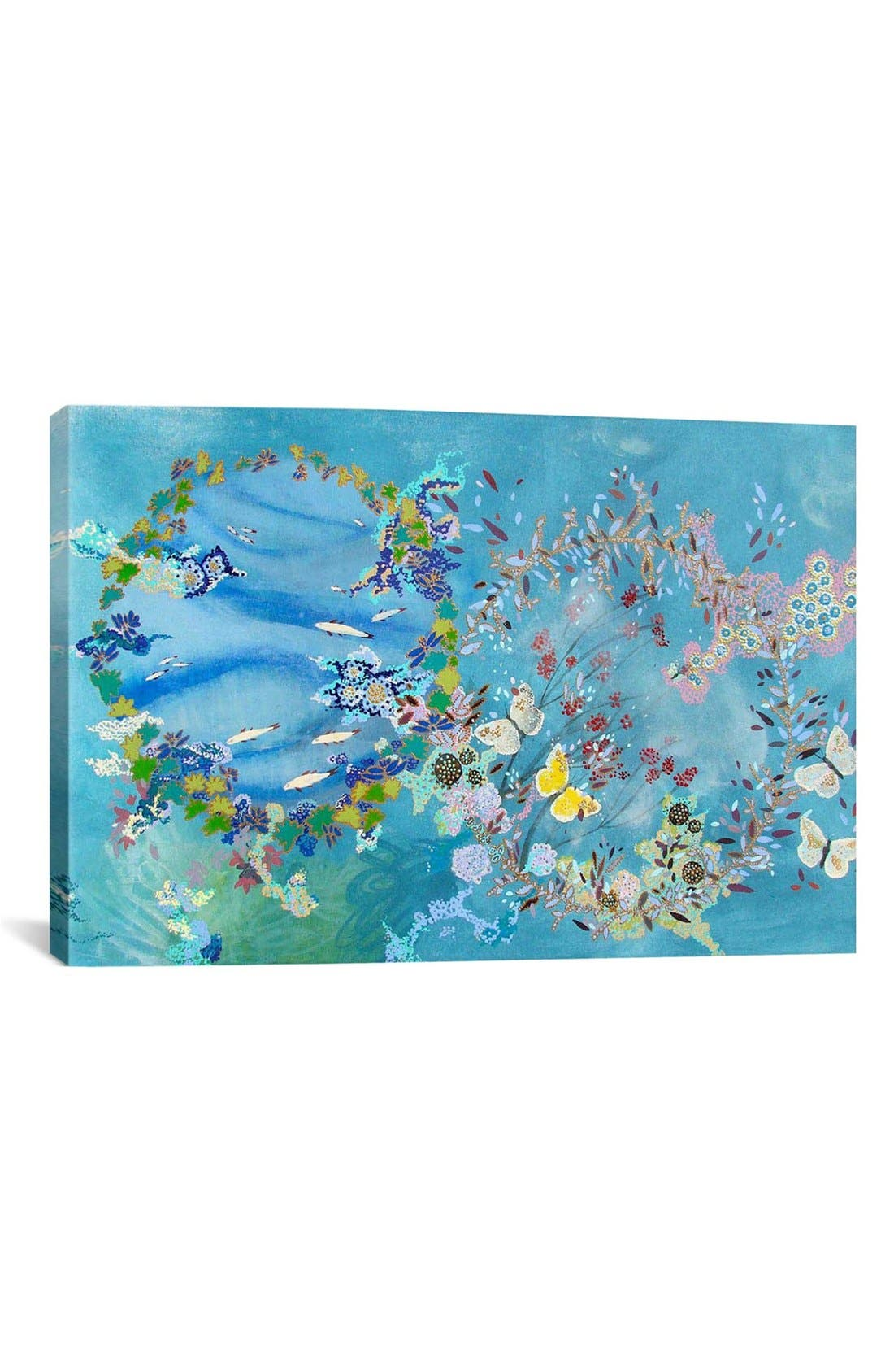 'Agua Y Aire - Lia Porto' Giclée Print Canvas Art,                             Main thumbnail 1, color,                             Blue/ Multi