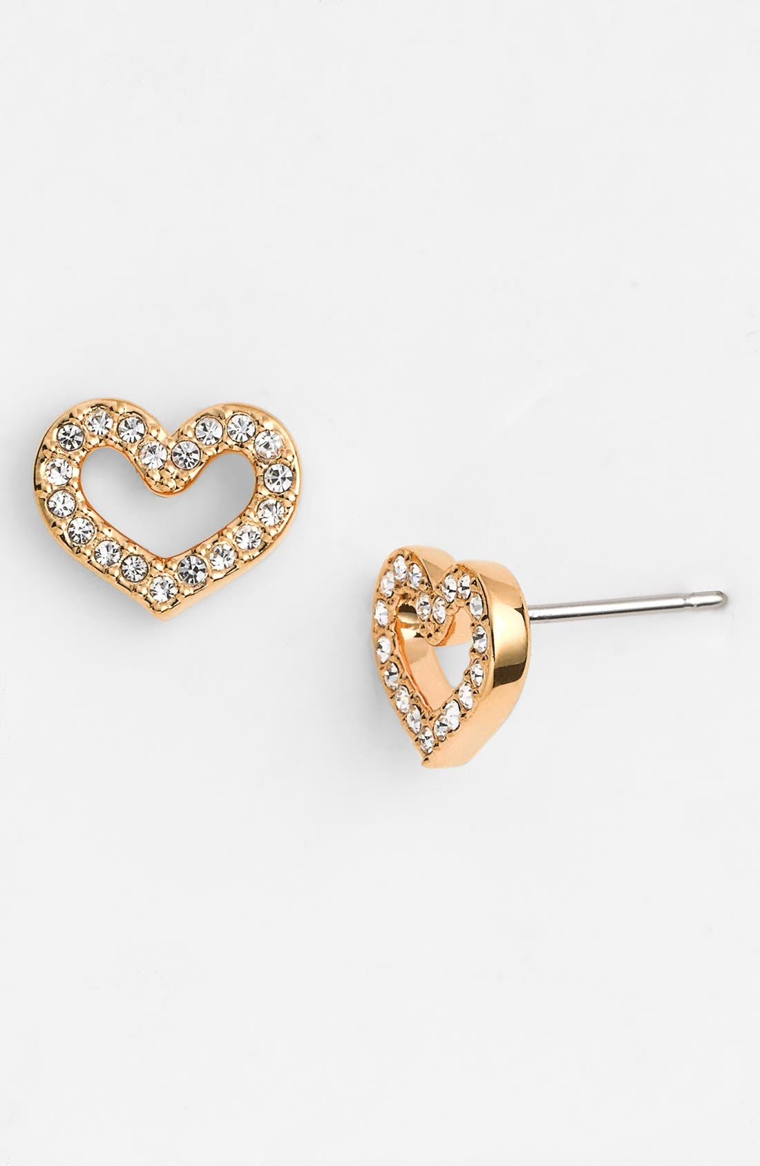 Main Image - Nadri Pavé Heart Stud Earrings