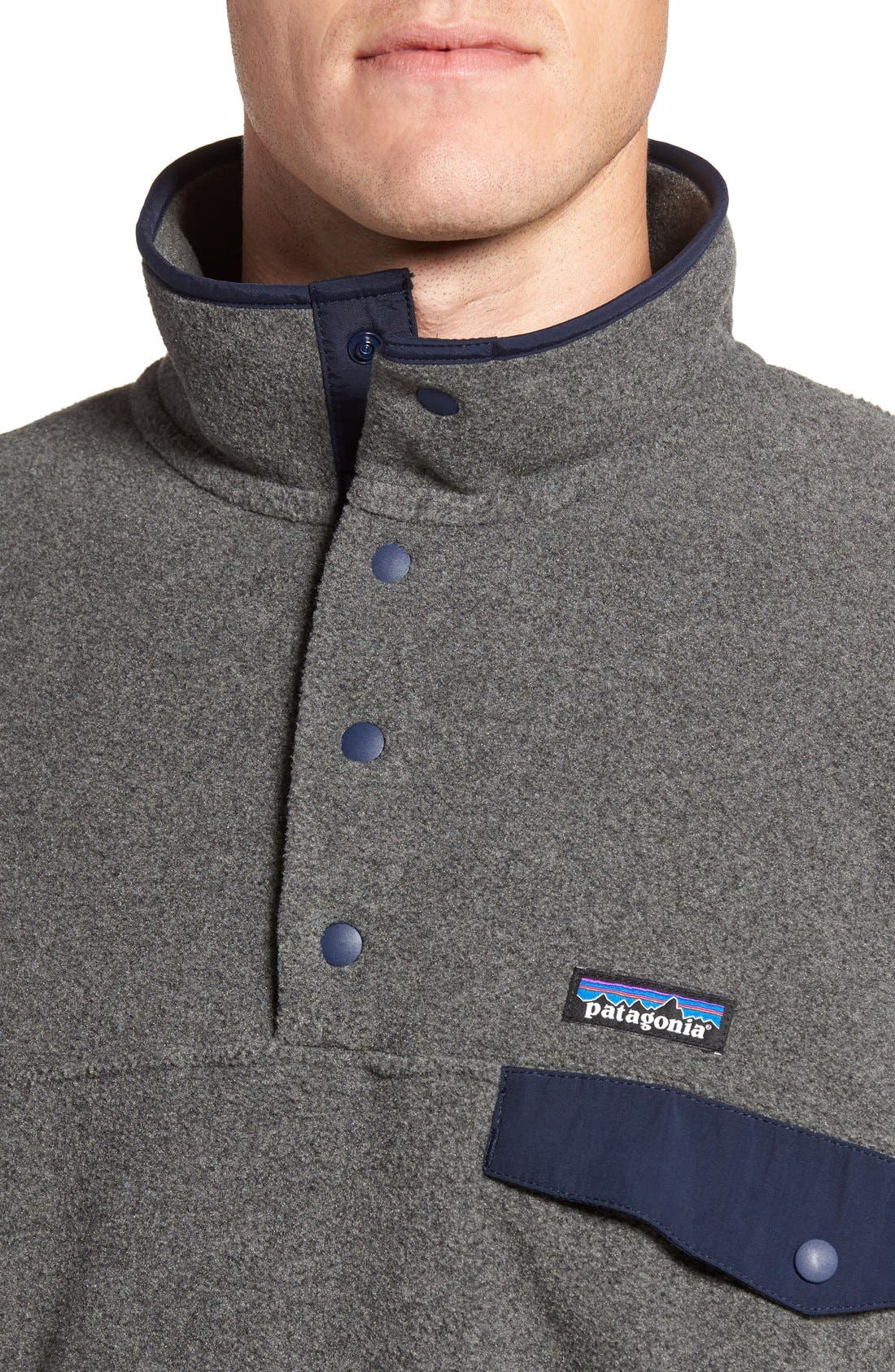 Synchilla<sup>®</sup> Snap-T<sup>®</sup> Pullover,                             Alternate thumbnail 6, color,                             Nickel/ Navy Blue