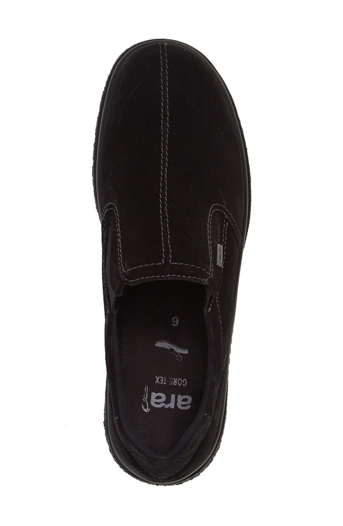 Parson Waterproof Gore-Tex<sup>®</sup> Slip-On Sneaker,                             Alternate thumbnail 3, color,                             Black Suede