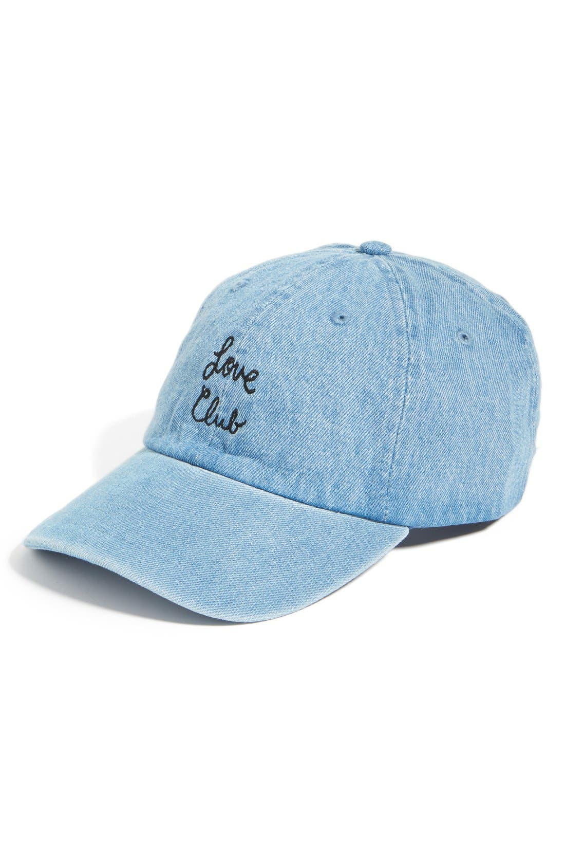 Alternate Image 1 Selected - The Style Club Love Club Baseball Cap