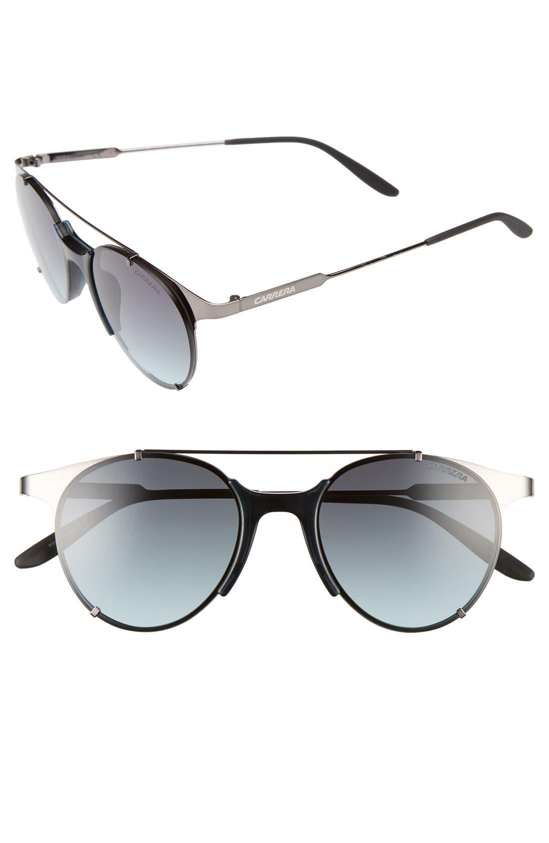 CA128/S 52mm Sunglasses,                             Main thumbnail 1, color,                             Dark Ruthenium