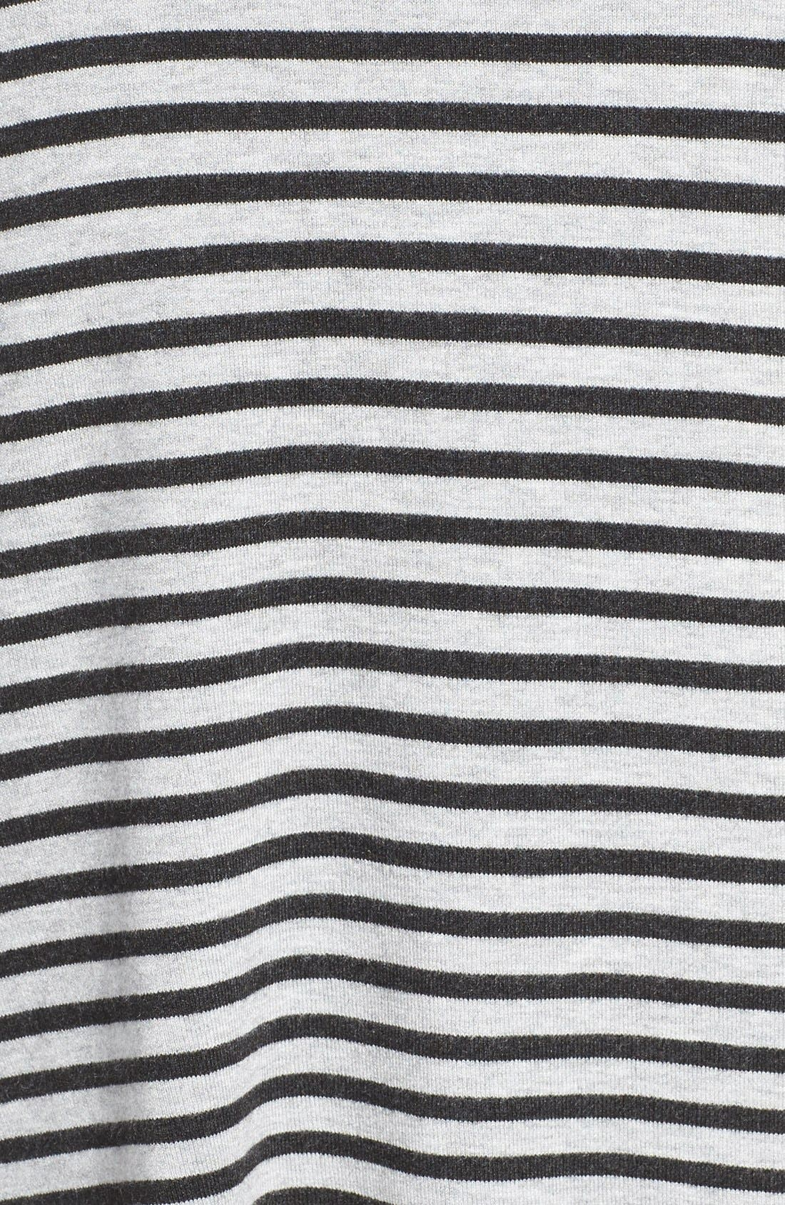 Alternate Image 5  - Eileen Fisher Stripe Funnel Neck Pullover (Plus Size)